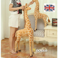 60CM Plush Giraffe Doll Giant Large Stuffed Animals Soft kids Toy Xmas Gift UK