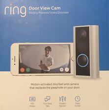 Ring NEVER USED 8SP1S9-0EN0 Door View Cam - Black with Satin Nickel Trim
