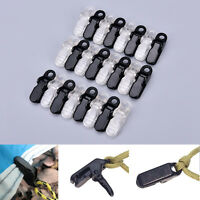 12X awning clamp tarp clips snap hangers tent camping survival tighten TT