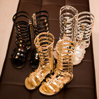 2019 Girls Sandals Kids Gladiator Sandals Summer Boots High-top Fashion Roman