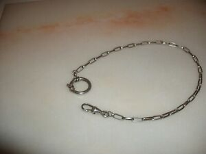 FINE ANTIQUE SOLID SILVER POCKET WATCH CHAIN