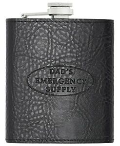 Perry Ellis Portfolio POCKET FLASK Black Macy's - 7oz Stainless Steel - NEW