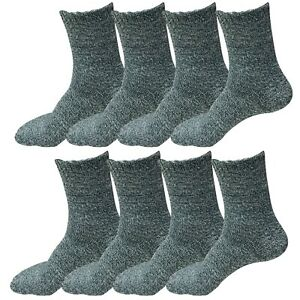 8 Pairs Womens Soft Winter Wool Thick Knit Thermal Warm Crew Cozy Boot Socks