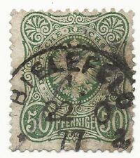Deutsches Reich 50 Pfennige Mi 38 b 1877 Bielefeld Cancelled German Empire Stamp