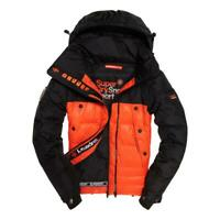Superdry NEW Men's Super Canadian Ski Down Puffer Jacket - Black / Orange BNWT