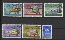 hélicoptère RUSSIE 6 timbres oblitérés  / T1430