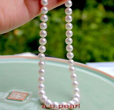 """AAAAA real natural 18""""9-10mm round REAL south sea white pearl necklace 14K GOLD"""