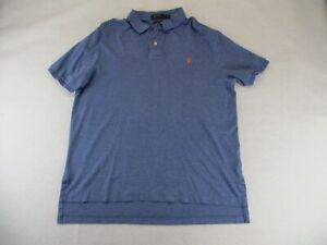 Polo Ralph Lauren Men's Size Large Polo Shirt Short Sleeve Blue Pima Cotton