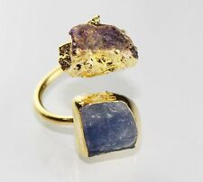 Dh-5498 Super Sale !! Dazzling Kyanite 24k Gold Plated Adjustable Ring Jewelry