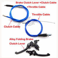 Blue Throttle Clutch Cable Brake Lever For CRF50 Pit Dirt Bike 110 125 150cc TTR