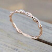 neue band - form frauen charme hochzeit dünne verdrehten ring crystal schmuck
