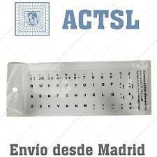 5 x Pegatina Sticker Teclado Español Portatil Laptop Blanco spanish keyboard