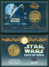 2016 Philippines STAR WARS DAY AT SEA Disney Gold Plated Commemorative Coin A