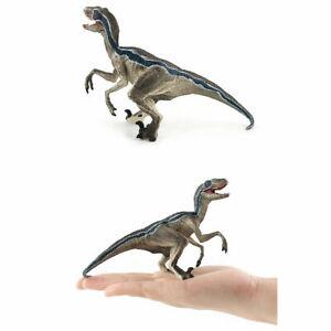 Jurassic Dinosaur Realistic Model Velociraptor Raptor PVC Figure Kids Dino Toy