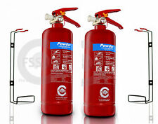 2 x 2 KG DRY POWDER ABC FIRE EXTINGUISHER HOME OFFICE CAR VANS KITCHEN.CE Marked