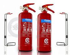 BSi EN3  2 x 2 KG DRY POWDER ABC FIRE EXTINGUISHER HOME OFFICE CAR VANS KITCHEN