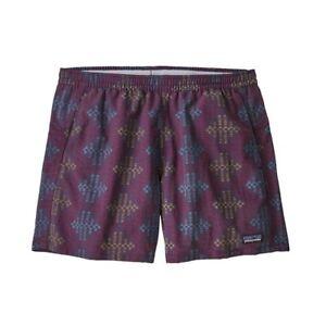 NWT Women's Patagonia Baggies Shorts Size L Etchings Deep Plum