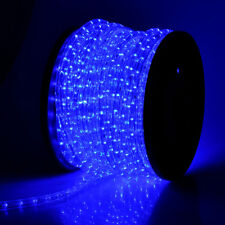 Blue LED Rope 150ft 110V 2 Wire Flexible DIY Lighting Outdoor Christmas