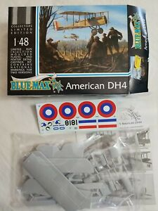 2002 BLUE MAX #BM205 AMERICAN DH4 FRENCH FIGHTER - 1/48 SCALE MODEL KIT