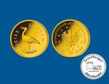 Deutschland 20 Euro 2020 Weißstorch * Prägestätte D * 1/8 oz 999 Gold ST