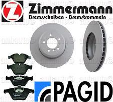 BMW 530i 535i 550 645 650 FRONT KIT Zimmermann Rotors + Pagid Pads