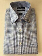 NWT $99.50 Hart Schaffner Marx [16.5 - 34] Pima Cotton Non-Iron Blue Dress Shirt