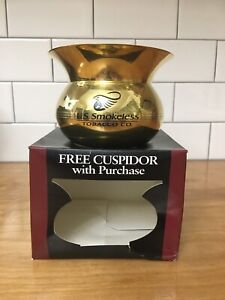 NIP Copenhagen Snuff US Smokeless Tobacco Brass Cuspidor Spittoon w Original Box