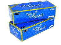 Royal Majestic Blue Light 100s 100MM - 2 Boxes - 200 Tubes Box Tobacco Cigarette