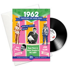56th Birthday | Anniversary Gift -1962 4-In-1 Card,Book,CD and Download