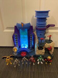 Imaginext Power Rangers Command Center Playset 6 Figure Bundle Alpha