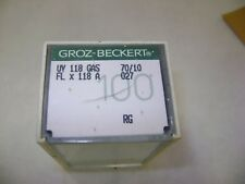 100 SIZE 70/027 GROZ-BECKERT UY 118 GAS FL X 118 A SEWING MACHINE NEEDLES A26