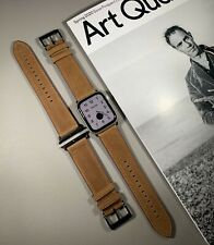 Brown Genuine Leather Watch Strap For Apple Watch 42/44mm Series 1,2,3,4,5,6,SE