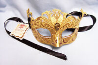 MASK: Pair La Maschera Del Galeone Masks Hand Made Venice Italy Signed by Artist