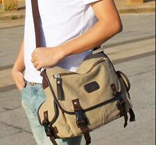 2017 Men Vintage canvas travel Messenger Shoulder crossbody sport school Bag