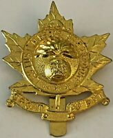 WWII Les Fusiliers De Sherbrooke Queens Crown Cap Badge