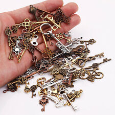 25Pcs Steampunk Mixed Key Charms Pendant For Bracelet Necklace Jewelry Making