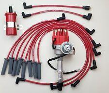 Pontiac 350 389 400 455 Small Cap Hei Distributor 85mm Plug Wires Red Coil Fits Pontiac
