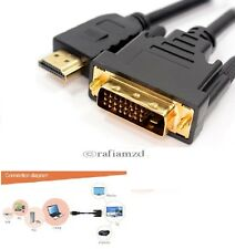 1.5m HDMI Male to DVI-D 24+1 Pin HD Digital Video Cable Lead For TV LCD Monitor