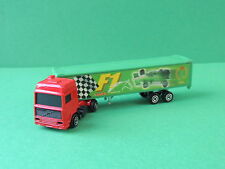 Majorette N°340 camion Volvo remorque F1 Racer BCR 1/100 diecast trailer truck
