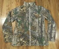 Womens REALTREE Camo Fleece Full Zip Jacket (Large 12-14) Camo Pink Trim