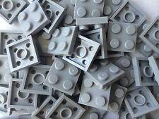 Lego Light Gray 2x2 Baseplates 2x2 Brick Building Plates New Lot Of 50