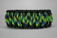 550 Paracord Survival Bracelet King Cobra Black/Lime/Aquatica Camping Tactical