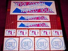 1986 GT BMX World Tour, restoration decals on clear MAGENTA, Vans, AME