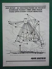 10/1981 PUB AIR INTER AIRLINE RESEAU AERIEN AIRBUS AIRLINER ORIGINAL AD