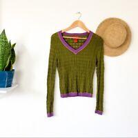 Missoni for Target Green V Neck Sweater Size M Women