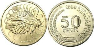 elf Singapore 50 Cents 1980  Lionfish  Fish
