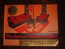 alter Katalog Bruno Prüstel Crimmitschau Moderne Polstermöbel 31x24cm