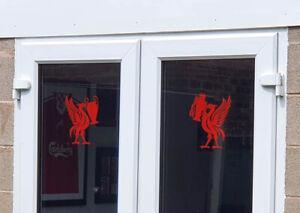 Liverpool Fc / LFC Liverbird Carrying European & English Trophy Vinyl Stickers