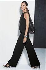 bnwt New Next black embellished chiffon layered wide leg jumpsuit size 10 tall