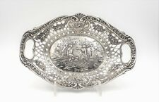 Antique .800 Silver Repousse Tray Candy dish